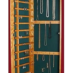 Recessed Wall-Mounted Wooden Jewelry Armoire - Nothing beats peace of mind when it comes to your ...