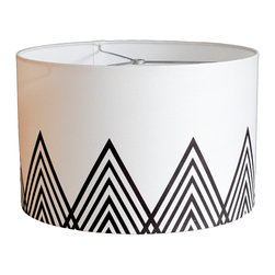 "MOOD Design Studio - Modern Lamp Shade - Jotunheimen - New Collection Fall/Winter 2014-15, 12"" - This lamp shade is part of our new ""Nordic Winter"" collection for fall/winter 2014/15 and is based on the part of the Scandinavian Mountain range called Jotunheimen. The name Jotunheimen is Norse for ""The Home of the Giants"" which makes a lot of sense as it is home to the 29 highest mountains in Norway! This shade is interesting but serene and would look beautiful on that old lamp base by your bed. It would also be an attention grabbing centerpiece in your living room, front entrance or anywhere you have a lamp base that needs a refresher!"