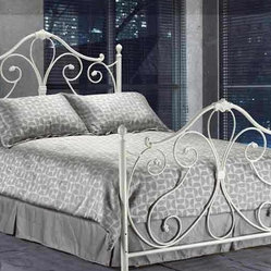 Ansley White Twin Wrought Iron Bed Frame