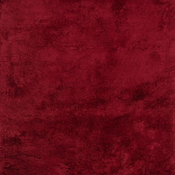 """Loloi Rugs - Loloi Rugs Mason Shag Collection - Crimson, 7'-10"""" Round - Hand-tufted in India of 100% polyester, the Mason Shag Collection offers an irresistibly soft feel to glide your feet across. Available in a multitude of on-trend colors, Mason Shag instantly adds comfort and style to a family room, bedside, and more - all at an affordable price."""