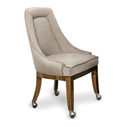 California House - lindgren chair w/ casters (fabric) - Manufactured in the USA, we are proud to offer our customers this premium game room furniture from a third generation, family-owned company.