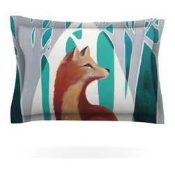 """Kess InHouse - Lydia Martin """"Fox Forest"""" Pillow Sham (Cotton, 30"""" x 20"""") - Pairing your already chic duvet cover with playful pillow shams is the perfect way to tie your bedroom together. There are endless possibilities to feed your artistic palette with these imaginative pillow shams. It will looks so elegant you won't want ruin the masterpiece you have created when you go to bed. Not only are these pillow shams nice to look at they are also made from a high quality cotton blend. They are so soft that they will elevate your sleep up to level that is beyond Cloud 9. We always print our goods with the highest quality printing process in order to maintain the integrity of the art that you are adeptly displaying. This means that you won't have to worry about your art fading or your sham loosing it's freshness."""