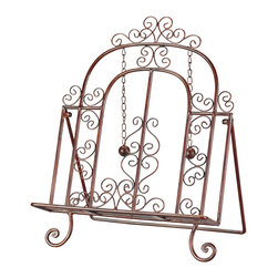 Sterling Industries - Cooks Bible Stand Decorative Accessory - Ready, set, cook! Meal preparation for your family and friends has never been easier. The decorative cook's book stand by Sterling not only looks good on your kitchen counter with its ornate scroll work detail, but it is functional as well. The book stand sturdily holds your cookbook in place so the recipes can be referred to at a quick glance making the task of reading recipes easier on the eyes. And, the weighted page holders will keep your page in place so you won't have to search for the recipe that had turned page. Free your kitchen counter from clutter, dress up your kitchen, and display your favorite cookbook. Or, use it to hold your bible open at a significant passage. This makes a great gift on its own or pair it with a special book.