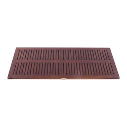 Hudson Reed - Hudson Reed Teak Floor Mat 40 X 20 - With an elegant yet practical design this high quality solid teak 40 x 20 floor mat will perfectly enhance the spa-style look and feel of your new bathroom or shower room. This teak floor mat features a non-slip rubber track on the back for greater peace of mind when stepping out of the shower.  Made from solid teak this durable floor mat has slats to ensure the water effectively drains away to the floor, while the unique deep penetrating stain will resist mildew and mold making it ideal for use in a bathroom environment.  Dimensions: 40 x 20.