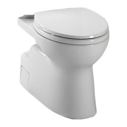 Toto - Toto CT474CEFG#01 White Vespin II Two-Piece High-Efficiency Toilet Bowl, 1.28GPF - The Vespin series features a contemporary design and skirted styling that will make a sleek, subtle addition to any bath.