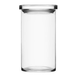 "Iittala - Glass Jars 4.5"" x 8"" Clear - Pretty, practical and proof that order can be beautiful ..."