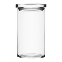 "Iittala - Glass Jars 4.5"" x 8"" Clear - Pretty, practical and proof that order can be beautiful. Put this tall glass jar to work in the kitchen, filled with your baking essentials. Or use it in the bathroom to display and store your beauty essentials."