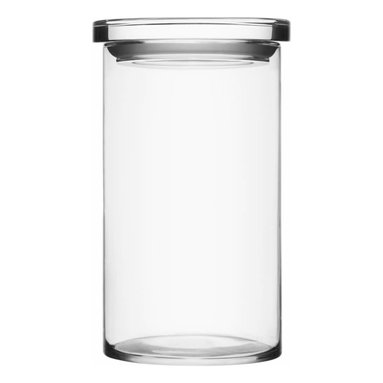 """Iittala - Glass Jars 4.5"""" x 8"""", Clear - Pretty, practical and proof that order can be beautiful. Put this tall glass jar to work in the kitchen, filled with your baking essentials. Or use it in the bathroom to display and store your beauty essentials."""