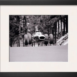 Artcom - French Grand Prix, c.1965 by Rainer W. Schlegelmilch - French Grand Prix, c.1965 by Rainer W. Schlegelmilch is a Framed Art Print set with a SOHO Thin wood frame and a Polar White mat.