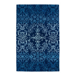 "Kaleen - Kaleen Divine Collection Div01-17 2'6""X8' Blue - The Divine collection features some of the most beautiful ombre patterns in the world today. A new twist on a traditional masterpiece, each rug is hand-tufted in India of 100% wool. Accented with a striking touch of viscose, these amazing highlights of detailed pattern to each and every rug will leave you feeling absolutely divine."