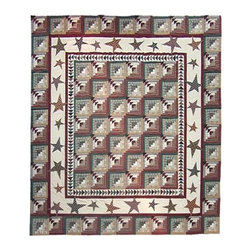 Patch Quilts - Woodland Star and Geese Queen Duvet Cover - -Constructed of 100% Cotton  -Machine washable; gentle dry  -Made in India Patch Quilts - DCQWDSG