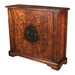 TerraSur - Milagros Chest - Featuring a hand-painted, translucent antique floral design, the Milagros Chest showcases rich