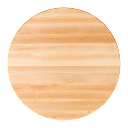 John Boos - John Boos Round Maple Edge-Grain Dining Table Tops - Maple butcher block table tops by John Boos, for commercial and home use. 1-1/2 and 1-3/4 inch thick tops in diameters ranging from 24 to 60 inches.