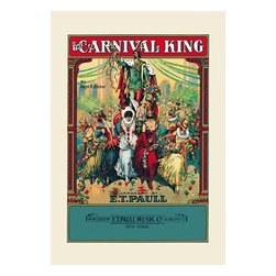 """Buyenlarge.com, Inc. - The Carnival King- Fine Art Giclee Print 24"""" x 36"""" - Edward Taylor Paull (1858 - 1924) was a prolific publisher of sheet music marches. His songs gained acclaim more from the cover art of the sheet music than often from the lyrics and tune."""
