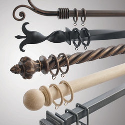 Orion Ornamental Iron, Inc. - Iron Drapery Hardware - Orion Ornamental Iron has over 100 iron finials to choose from. Available in 35 Iron Art finishes, or your own custom finish.