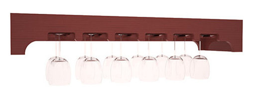 Wine Racks America - Stemware Glass Rack with Arched Panels in Pine, Cherry + Satin Finish - Our stemware rack with an arched front panel is a classy way to display your finest crystal. Designed to be installed over any Wine Racks America Tasting Table, create an intimate and functional tasting station. Gracefully displays 18 wine glasses. Your satisfaction is guaranteed.