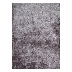 Rug - ~4 ft. x 6 ft. Grey Living Room Area Rug, Made In Tibet, Shaggy & Hand-tufted - Living Room Hand-tufted Shaggy Area Rug