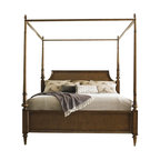 Lexington - Lexington Quail Hollow Georgetown Poster Bed in Wellington Finish-Queen - Lexington - Beds - 010460173C - The versatility of this bed provides four looks according to your taste. The low post option on both headboard and footboard is shown here, yet it also ships with four posters and a canopy so you can change your look with every season.