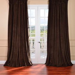 EFF - Java Velvet Blackout Extra Wide Curtain Panel - These blackout extra-wide curtain panels are perfect for your French doors and extra-large windows. These energy-efficient curtains add a sense of warmth and luxurious comfort to any room with their plush and flowing velvet material.