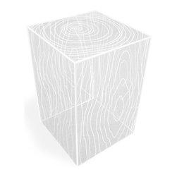 Gus Modern - Modern Acrylic Cube Side Table - Every residence needs a utility table that can stand out on its own or get out of the way. Designed to look nice and blend in, it's a chameleon-style table that can go in any room of your home.