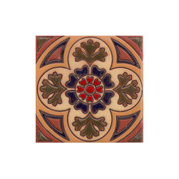 Handpainted Ceramic Old California Mission Tile Collection - Item CA34
