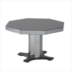 Standard Furniture Parisian Octagon Dining Table in Gloss Black - About This Product:
