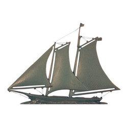 "Whitehall Products LLC - 46"" Yacht Weathervane Verdigris - Color: Verdigris"