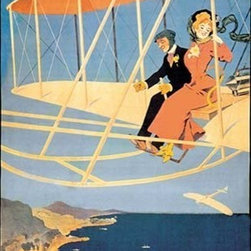 "Buyenlarge.com, Inc. - Monte Carlo Concours D'Aviation - Paper Poster 12"" x 18"" - Travel & Leisure during the Heyday of Commercial Air Travel when Flying was exciting and foreign locations exotic."