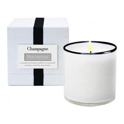 Lafco - Lafco Champagne-Penthouse Candle - Created with natural essential oil-based fragrances, this candle is richly optimized for a 90-hour burn time. The clean-burning soy and paraffin blend is formulated so that the fragrance evenly fills the room. Each hand blown vessel is artisan crafted and can be re-purposed to live on long after the candle is finished.