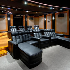 Traditional Home Theater by Bekins