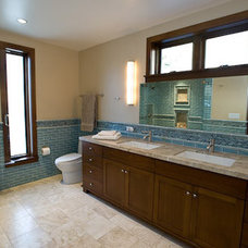 Transitional Bathroom by John Cinti Designs, LLC