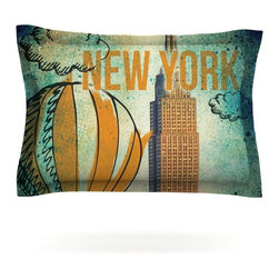 """Kess InHouse - iRuz33 """"New York"""" Pillow Sham (Cotton, 40"""" x 20"""") - Pairing your already chic duvet cover with playful pillow shams is the perfect way to tie your bedroom together. There are endless possibilities to feed your artistic palette with these imaginative pillow shams. It will looks so elegant you won't want ruin the masterpiece you have created when you go to bed. Not only are these pillow shams nice to look at they are also made from a high quality cotton blend. They are so soft that they will elevate your sleep up to level that is beyond Cloud 9. We always print our goods with the highest quality printing process in order to maintain the integrity of the art that you are adeptly displaying. This means that you won't have to worry about your art fading or your sham loosing it's freshness."""