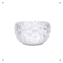 Lalique - Lalique Spirales Bowl Medium Clear - Lalique Spirales Bowl Medium Clear 10306800  -  Size: 8.66 Inches Long x 4.53 Inches Tall  -  Genuine Lalique Crystal  -  Fully Authorized U.S. Lalique Crystal Dealer  -  Created by the Lost Wax Technique  -  No Two Lalique Pieces Are Exactly the Same  -  Brand New in the Original Lalique Box  -  Every Lalique Piece is Signed by Hand, a Sign of its Authenticity and Quality  -  Created in Wingen on Moder-France  -  Lalique Crystal UPC Number: 090592929018