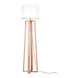 ParrotUncle - Contemporary Large Floor Lamps with Quadripod Stand - A chic quadripod floor lamp is the perfect lighting solution for a sophisticated living room or home office. An elegant natural paper shade completes the effortless design.