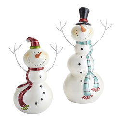 Joyful Snowmen - I love decorating with snowmen because they can be kept out well after the holidays.