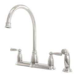 Moen Banbury Two-Handle Kitchen Faucet, Chrome - This faucet has classic lines and makes things like filling a big pot with water a breeze.