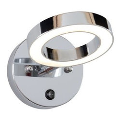 Alternating Current - Alternating Current AC1161 Halo 1 Light LED Bathroom Sconce - Features: