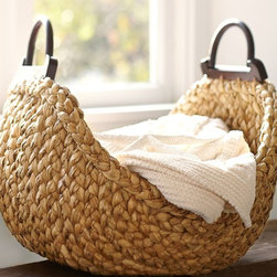 Beachcomber Wood Handle Basket - I love the weave and handles on this basket. It's so useful for so many purposes.