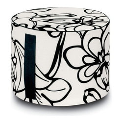 Missoni Home - Missoni Home | Pretoria Outdoor Cylinder Pouf, Black/White - Design by Rosita Missoni.