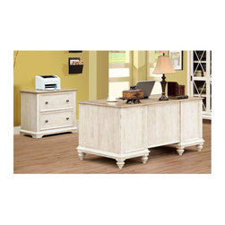 Riverside Furniture - Coventry Two Tone Lateral File Cabinet with Executive Desk - Lateral File Cabinet: