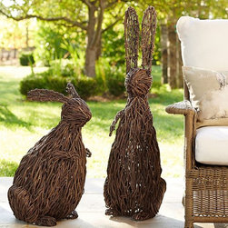 Woven Twig Bunnies - A pair of rustic twig bunnies is a great way to showcase spring and Easter without too much fuss. I especially love that these are neutral enough to go with any decor.