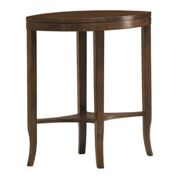 Sherrill Occasional - Sherrill Occasional Accessory Table 212-910 - Two sided accent table designed to accompany the Eero steel and maple collection. Ideal next to your favorite lightly scaled reading chair. Available in all Custom Finishes.