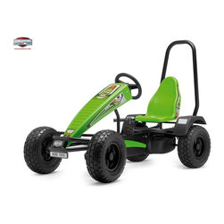 Berg USA - Berg USA X-plorer XT-3 Pedal Go Kart - 03.50.43.00 - Shop for Go Karts from Hayneedle.com! The Berg USA X-plorer XT-3 Riding Toy will take your child just about anywhere they want to go . . . as long as they stay away from Mom's flower beds. This durable off-road pedal toy has a rugged metal frame that supports a molded plastic seat that can be adjusted to keep your little one's feet right on the pedals. Air-filled tires have an off-road tread that is meant for wild terrain and if the terrain gets too wild the metal roll bar is there to make sure everything lands safely on the ground. The unique BF-3 hub is designed to let your child pedal forward coast and then brake using the pedals. This system even lets them pedal in reverse but in this riding toy they'll probably just want to keep going forward. This toy weighs 118 lbs and is recommended for children ages 5 and up. Adults under 6-ft. and 285 lbs. can also ride comfortably.Additional FeaturesBF-3 (brake and freewheel with 3-speed gear shift) hub for easy pedal controlPedal-operated coaster brakeHand-operated disc brakesRealistic-looking dashboard decalsAdjustable green plastic-molded sport seatRear wheel mud guards and chain cover for safetyCompact upright storageAbout Berg USAFounded in 2010 Berg USA is quickly becoming a recognized name in children's riding toys with their innovative designs and attention to safety that don't get in the way of their dedication to providing outdoor exercise for both kids and adults. Berg USA designs and offers a wide variety of high-quality pedal go-karts for home or commercial use ranging in size to comfortably accommodate ages 2 through adult as well as their versatile line of MOOV construction kits.Please note this product does not ship to Pennsylvania.
