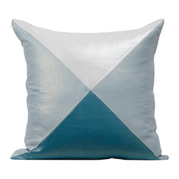Christen Maxwell LLC - Aegean Lustre Linen Pillow - Lustre Linen pillows add a touch of glamour to any room. Cut & sewn in NYC with European Linen