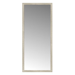 """Posters 2 Prints, LLC - 32"""" x 74"""" Libretto Antique Silver Custom Framed Mirror - 32"""" x 74"""" Custom Framed Mirror made by Posters 2 Prints. Standard glass with unrivaled selection of crafted mirror frames.  Protected with category II safety backing to keep glass fragments together should the mirror be accidentally broken.  Safe arrival guaranteed.  Made in the United States of America"""