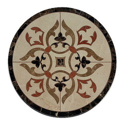 Medallions Plus - Waterjet Marble Floor Medallion Marble Floor Tile Inlay, Polished - Product Details