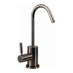 Whitehaus - Forever Hot 4 in. Instant Water Dispenser Fau - Color: Brushed NickelPictured in solid stainless steel. Includes gooseneck spout. Self closing handle. Fits counter tops up to 2.5 in.. Can be used with wh-tank only. 4 in. W x 6.5 in. H (4 lbs.). Warranty