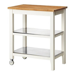 Carina Bengs - STENSTORP Kitchen Cart - This is a beautiful kitchen solution! I love that it can be used as both a counter top and as storage.