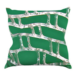"""Kess InHouse - Maynard Logan """"Catch"""" Throw Pillow (18"""" x 18"""") - Rest among the art you love. Transform your hang out room into a hip gallery, that's also comfortable. With this pillow you can create an environment that reflects your unique style. It's amazing what a throw pillow can do to complete a room. (Kess InHouse is not responsible for pillow fighting that may occur as the result of creative stimulation)."""