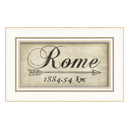 The Artwork Factory - 'Rome' Print - Every once in a while you need to be pointed in the right direction. The direction of pasta, piazzas and parmigiano. Hang this Rome print on your wall and dream of your next trip to Italy's capital. Ciao, bella/bello.